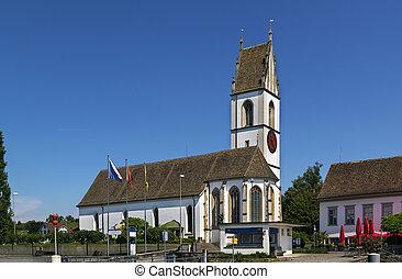 church on Zurich lake, Switzerland