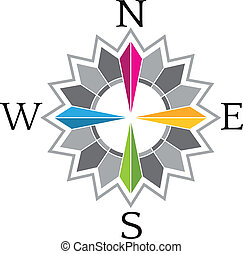Abstract Compass Rose image logo - Abstract Compass Rose...