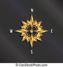 Golden Compass Rose logo
