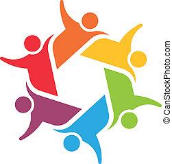 equipo, 6, comité, logotipo