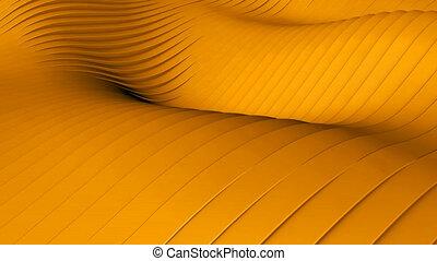Orange background - Beautiful orange background with wawes