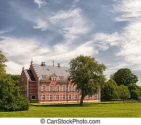 Palsjo Slott in Skane - HELSINGBORG, SWEDEN - JUNE 10: View...