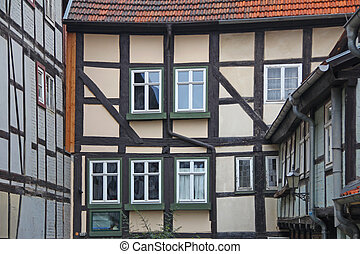 Half timbered houses in Quedlinburg, Saxony-Anhalt, Germany