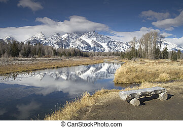 Snake River Tetons NP - Snake River and the Rocky Mountains...