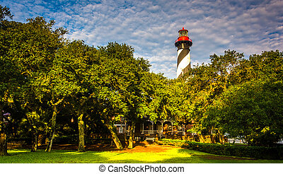 St. Augustine Lighthouse, in St. Augustine, Florida. - St....