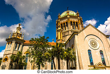 Flagler Memorial Presbyterian Church, in St Augustine,...