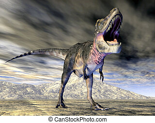 Dinosaur Tarbosaurus - Computer generated 3D illustration...