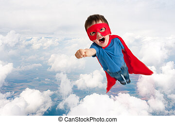 superhero child boy flying - superhero boy child flying...