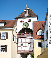 City Gate of Meersburg - Historic city gate of Meersburg at...