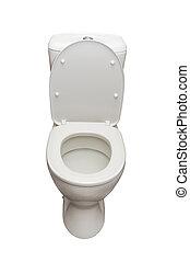 Lavatory - White ceramic lavatory isolated on white...