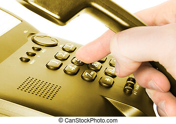 dialing on phone