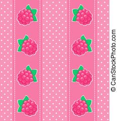 raspberry - Very cute and beautiful berry seamless pattern