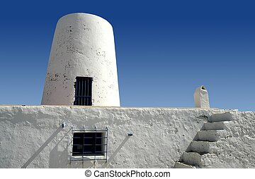 Balearic islands architecture white mill