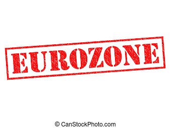 EUROZONE red Rubber Stamp over a white background