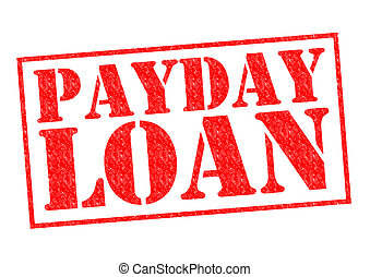 PAYDAY LOAN red Rubber Stamp over a white background