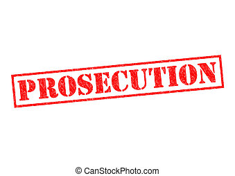 PROSECUTION red Rubber Stamp over a white background.