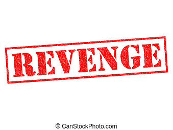 REVENGE red Rubber Stamp over a white background