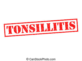 TONSILLITIS red Rubber Stamp over a white background