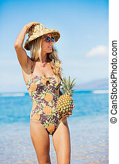 Beach fashion concept - Fun retro beach fashion concept....