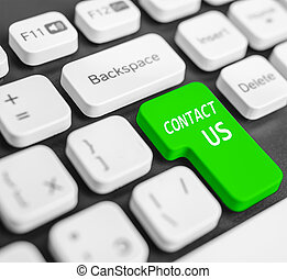 Keyboard button Contact us