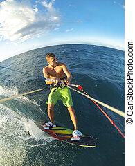 Kiteboarding POV Action Camera - Kiteboarding, Fun in the...