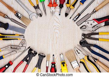 木制, 工作, 工具, 結構