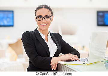 Successful business lady Beautiful young woman in formalwear...
