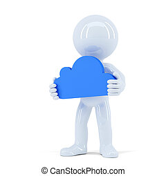 Cloud computing concept. Isolated. Contains clipping path