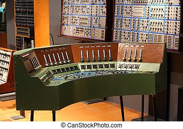 viejo, audio, grabación, estudio
