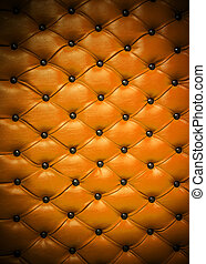 Upholstery texture detail - Detail of leather upholstery