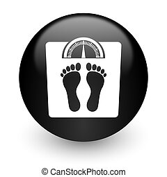 weight black glossy internet icon - black glossy computer...