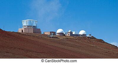 Haleakala Observatory in Haleakala National Park on Maui...