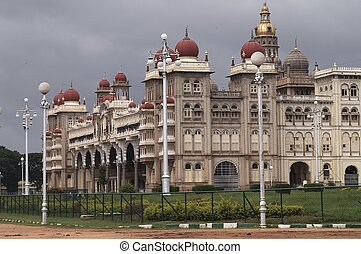 Mysore Palace - City Palace in Mysore Southern India. Large...