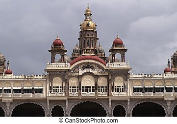 City Palace, Mysore - Close up of the City Palace in Mysore...