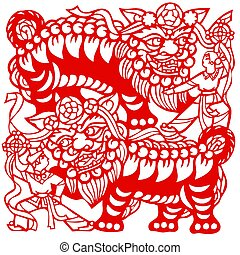 Chinese Zodiac of lions