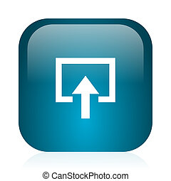 enter blue glossy internet icon - blue glossy web icon