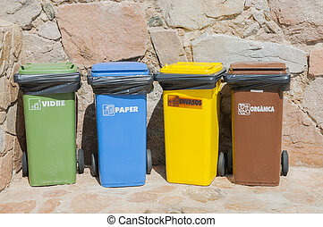 different dumpsters