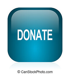 donate blue glossy internet icon - blue glossy web icon