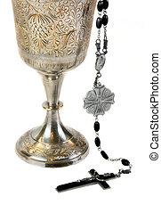 florido, comunión, cáliz, rosario