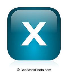 cancel blue glossy internet icon - blue glossy web icon