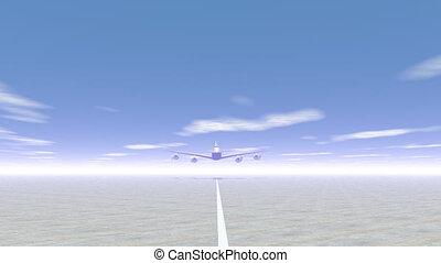 Plane taking off - 3D render