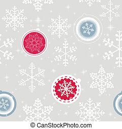 Winter Christmas New Year Seamless Pattern, Beautiful Texture wi