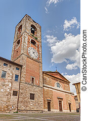 cathedral of Colle di Val d'Elsa, Tuscany, Italy - medieval...