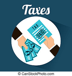 tax design over blue background vector illustration