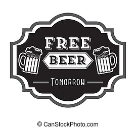 beer design over white background vector illustration