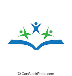 Education logo vector stock