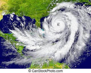 furacão, entre,  Flórida,  Cuba