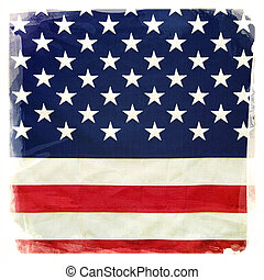 American flag - Closeup of stars and stripes of American...