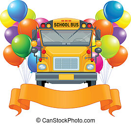 American school bus - Illustration of American school bus
