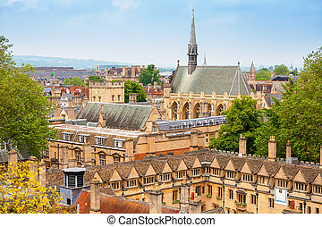 Oxford. England - Cityscape of Oxford. Oxfordshire, England